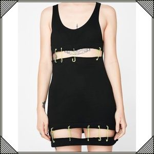 * Current Mood Cut Out Dress * Safety Pin Black *